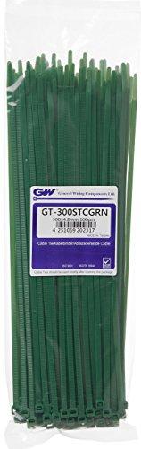 GW Kabelbinder-Technik, Kabelbinder 300 x 4,8 mm, grün, 100 Stück, GT-300STCGRN