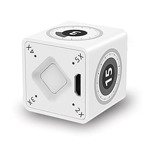 Velusa Kitchen Timer,Mini Smart Digital Cube Timer,for Egg Meat Food Cooking,Duration Adjusement 1-75M with Alarm,for Women Kid Old People Reminder
