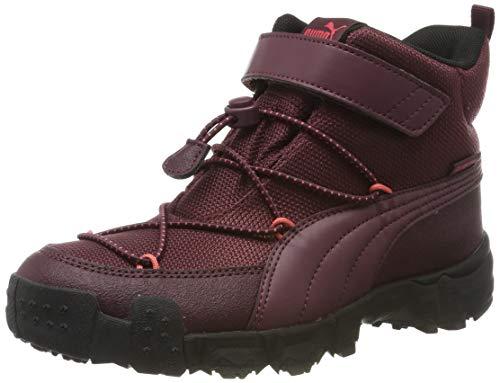 PUMA Unisex-Kinder Maka Puretex V Ps Sneaker, Rot (Vineyard Wine Heather-Calypso Coral), 30 EU