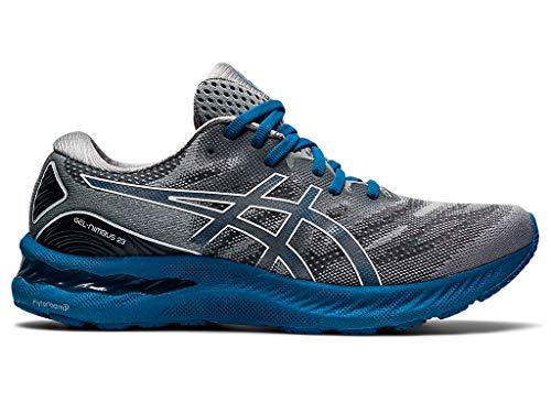 ASICS Men's Gel-Nimbus 23 Running Shoes, 11.5, Sheet Rock/DEEP Sapphire