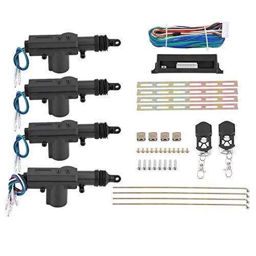 12V 4-türiges Universal Car Power TüRschlossantrieb, Auto Zentralverriegelung Verriegelung Funkfernbedienung Nachrüsten mit 2 Klappschlüssel Für die meisten Fahrzeuge geeignet
