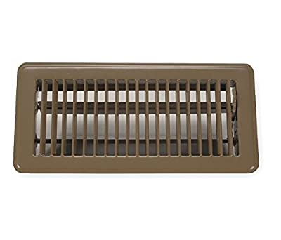 Rocky Mountain Goods Floor Register 4X12 - Heavy Duty Walkable Register - Premium Finish - Easy Adjust air Supply Lever - 4 inch by 12 Inch Floor Vent