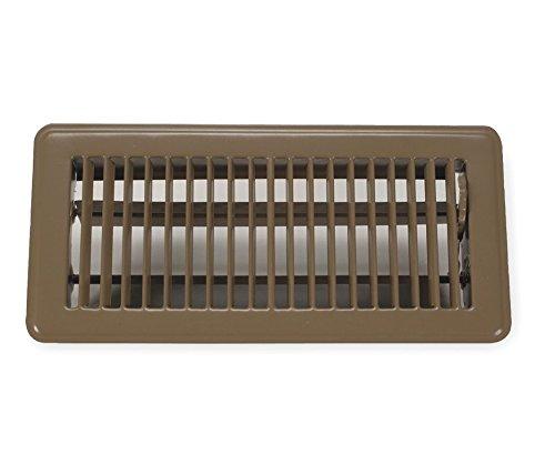 Rocky Mountain Goods - Registro de suelo (medidas de apertura de duct), acabado premium, palanca de suministro de aire de fácil ajuste, 3.9 x 11.8in, rejilla de ventilación de suelo (marrón)