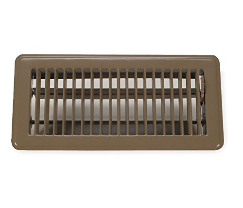 Rocky Mountain Goods Floor Register 4X12 (Duct Opening Measurements) - Heavy Duty Walkable Register - Premium Finish - Easy Adjust air Supply Lever - 4 inch by 12 Inch Floor Vent (Brown)