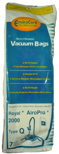 Royal AiroPro 2000 Type Q Canister Vacuum Cleaner Bags, EnviroCare...