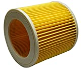 RODAK Cartridge Filter, Locking Knob Included, Compatible with Karcher Vacuum Cleaner WD3, MV3, WD 3.200 and A 2504