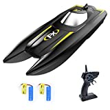 VOLANTEXRC RC Boat for Pool and Lake, High Speed Remote Control Boat for Kids with Water Sensing, Improved Waterproof Design for Boys or Girls (Black)