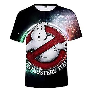 CYANDJ-Ghostbusters-T-Shirt à Manches Courtes Imprimé en 3D pour Enfants, Polo De Loisirs pour Enfants D'éTé, T-Shirt De Plage à SéChage Rapide Imprimé Unisexe-110