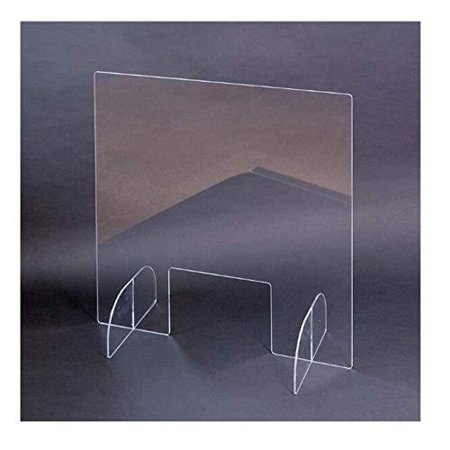 Leitblech niesen Schild Plexiglas 76cm x 61cm x 6mm Sicherheitsschild Isolationsplatte freistehende Arbeitsfläche, geeignet for Kassierer, Rezeptionistin, Kosmetikerin, Schreiber □ for den Einzelhande