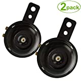 SoundOriginal Universal Motorcycle Electric Horns Auto Horns Loud kit 12V 1.5A 105db Waterproof Round Loud Horn Speakers (2pack)