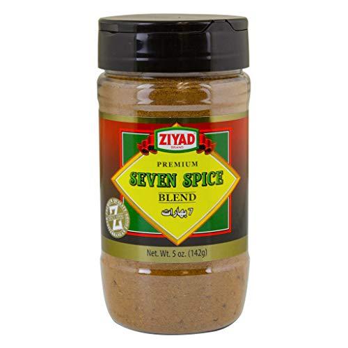 Ziyad Shaker Premium Seven Spice Blend,100% All-Natural Flavorful Spices, No Additives, No Preservatives, No Salt, No MSG, 5 oz
