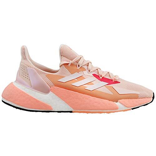 adidas Women's X9000L4 Running Shoe, Pink Tint/White, 10