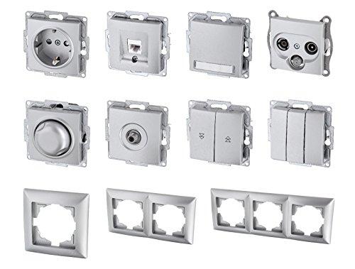 UP Schalterserie Schalterprogramm - Serie G1 silber (Serienschalter)