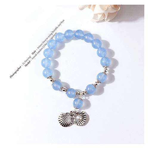 Clong01 Pulsera de Las señoras Pulsera de Las Perlas de Agua Dulce Natural Pulseras de la Cuerda elástica de la Cuerda de la Fresa para Las joyería de Las Mujeres Bien diseñado