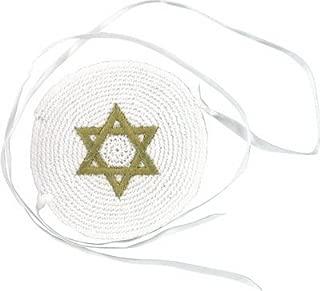 Baby Kippah with Ties - Star of David - Jewish Yamaka
