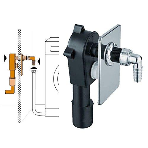 Unterputz Geräte-Siphon für z.B Waschaschine mit verchromter Blende