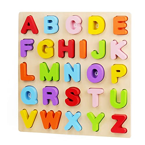 Alphabet Puzzle, WOOD CITY ABC Letter Puzzles for Toddlers 1 2 3 Years...