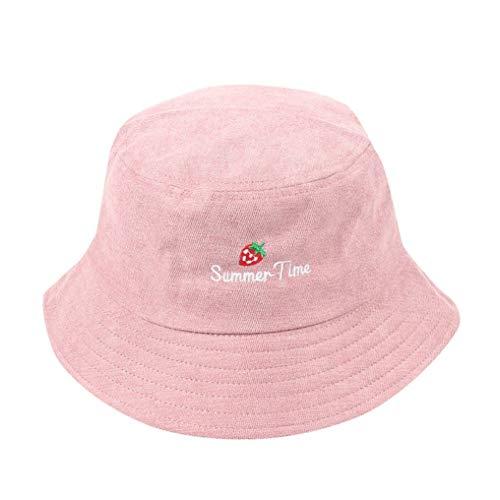 AROVON Eimer Hut Erwachsene Frauen Männer Erdbeer Cord Fischer Hüte Sonnencreme im Freien Caps 5 Farben Baumwolle Caps