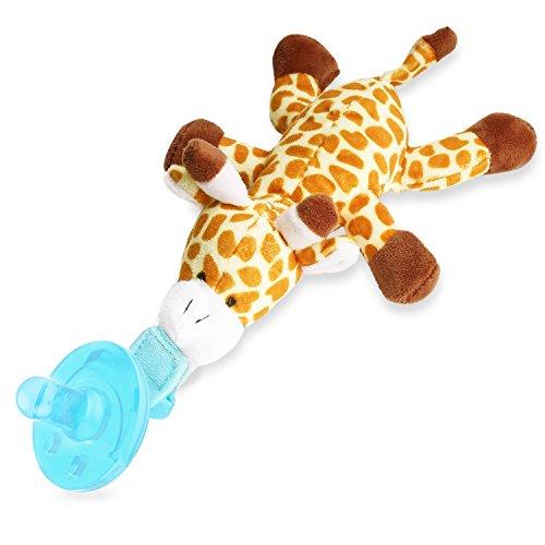 Zooawa Baby Schnuller - Silikon Schnullertier für 0 bis 18 Monate Mädchen Junge Kinder, BPA frei Zahnfreundlich Kreativ Sauger pacifier Beruhigungssauger, Giraffe