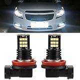 H11 LED Car Bulb, EV11 Luces antiniebla LED de alto brillo de ocho filas 24SMD H8 / H9 / H11 Aluminio (24W, 2400LM)