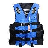 Chaquetas Y Chalecos Salvavidas Salvavidas Chaleco Flotador para Barcos Kayak Adulto Chaleco de Pesca,Blue,3XL