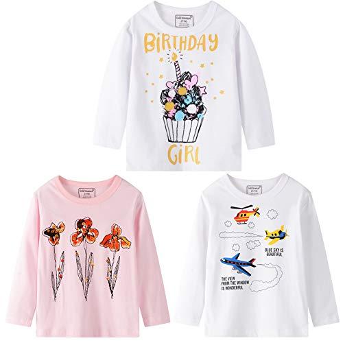WAJLSWIK 3-teiliges Shirt für Kleinkinder, Kinder, Babys, Jungen, Mädchen,...