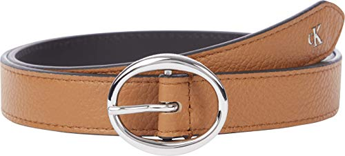 Calvin Klein Jeans Rounded Classic Belt 25MM Cinturn, coñac, 100 para Mujer