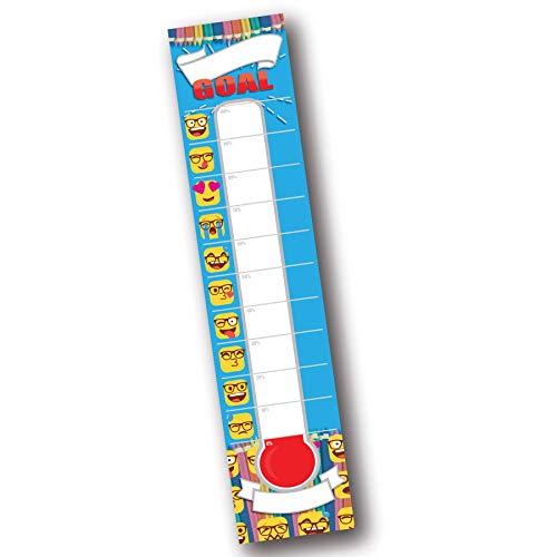 Emoji Dry Erase Ziel-Einstellung, Spendenthermometer, Zieldiagramm, Temperatur Poster für Büro, Klassenzimmer, Schule und Kinder