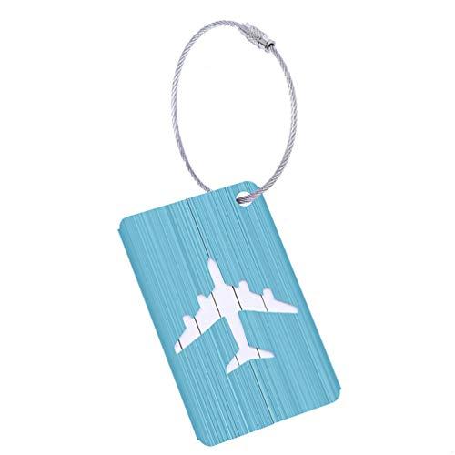 スーツケースタグ オシャレ 名前タグ カバン ネームタグ スーツケース 犬 旅行タグ スーツケース バック カバン 出張 トラベル 紛失防止 旅行用 かわいい アルミ合金 ブルー Luggage Tag 仕上げ エアバス ブルー 2枚