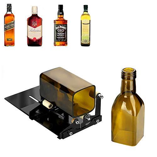 NOBGP Cortador de Botellas de Vidrio, cortadora de Botellas cuadradas y Redondas, Herramienta para Cortar Botellas de Vino y Botellas de Cerveza para Corte Licor, Whisky, Alcohol, champán