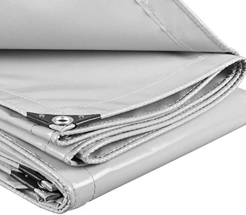 Laneetal Lonas Impermeables Exterior Funda Protectora Muebles Resistente al Agua y Anti-UV Cubierta de Madera Gris 500g/m² 2x3m 0930091