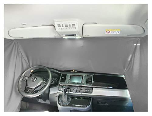 Frontscheibe Sonnenschutz Camping Führerhaus Gardinen Vorhang kompatibel mit VW Caddy 4 ab 2015 FB: F_GR