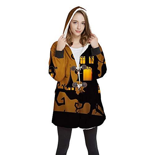 FUFU Mantas y mantitas 3D Halloween camiseta de Manta impresa, con capucha manta usable, caliente suave cómodo for los adultos regalos Hombres Mujeres Adolescentes Amigos de Acción de Gracias en 4 tam