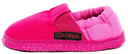 GIESSWEIN Aichach – pantoffels voor kinderen, unisex pantoffels, katoenen schoenen, natuur latex zool, elastiek