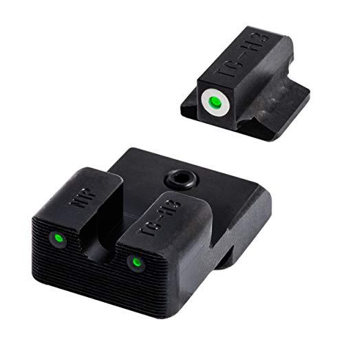 TRUGLO Tritium Pro Glow-in-the-Dark Handgun Night Sights for 1911 Pistols, 260 Front / 450 Rear, Black