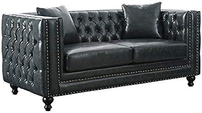 Amazon.com: Furniture of America Juniper Glam Sofa in Dark ...