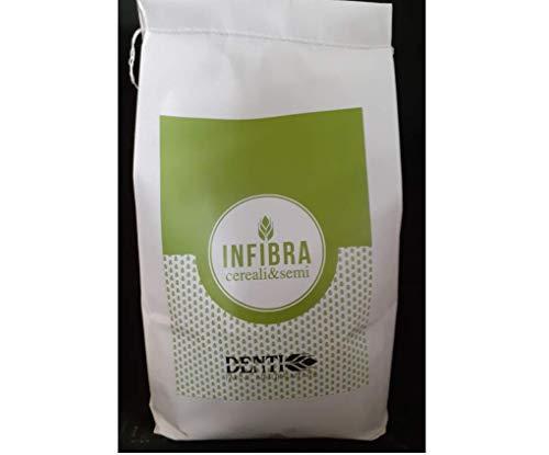 INFIBRA - Farina Naturale Nerissima 2,5Kg Nera - Per Preparati, Pizza, Focaccia, Pane, Torte... di colorazione Scura - Superfood ai Cereali, Semi di Girasole, Sesamo e Lino