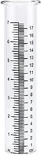 """QMET 7"""" Capacity Rain Gauge Glass Replacement Tube for Yard Garden Outdoor Home"""