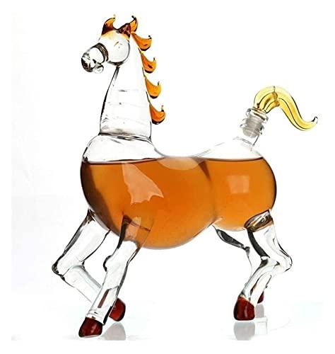 SoGuDio Decantador de Whisky Decantador de Whisky Decanter Whiskey Glass Decanter, 750ml de Cristal de Cristal Whisky Gafas, hogar, restaurantes y Fiestas Licorera