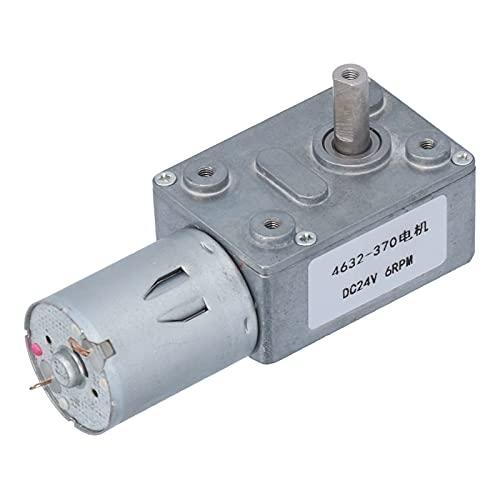 Cyrank Motor de Engranaje helicoidal de CC, Motor eléctrico de Alta reducción de torsión, Motor con Engranaje Turbo para Aires acondicionados, Calentadores, 24 V, 6 RPM