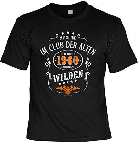 T-Shirt Rahmenlos Design zum 60. Geburtstag - Club der Alten Wilden 1959 - inkl. Urkunde, Größe:XXL