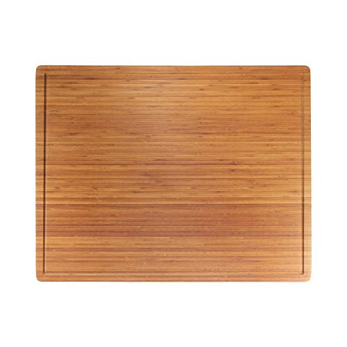 BambooMN Bamboo Burner Cover Cutting Board - 3 Ply - Extra Large - Grooved/Flat (30