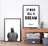 Biggie Smalls Rap Lyrics Leinwand Kunstdruck/Poster