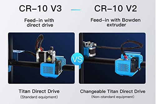 Creality CR-10 V3 3D Printer New Version with Direct Drive Extruder Firmware Upgrade Silent Mainboard Resume Printing 300x300x400mm with Meanwell Power Supply Support DIY Expansion