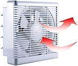 800m³/h 680m³/h Extractor de Baño Ventiladores de Baño Ventilación Reversible de 2 Vías con Persiana Interruptor de Cable Gran Flujo de Aire para Pared Ventana Cocina Garaje Tienda Inodoro 10'