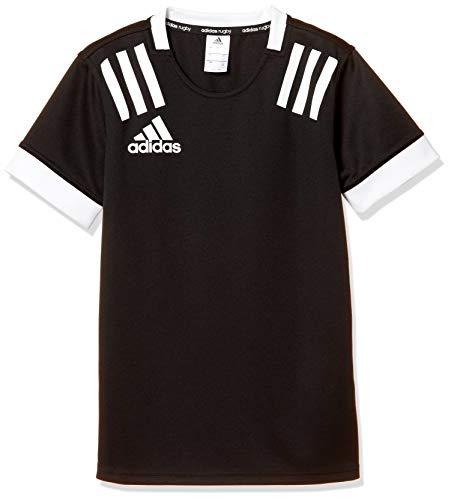 [アディダス] 半袖 Tシャツ キッズ スリーストライプス ジャージー FXU52 ブラック/ホワイト(DY8498) 日本 J140 (日本サイズ140 相当)