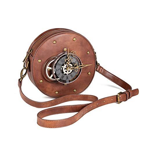 Bolso bandolera para mujer, estilo steampunk, estilo retro, vintage, para reloj de trabajo, se aplica ligeramente al uso diario.