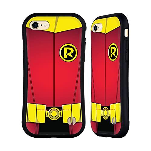 Head Case Designs sous Licence Officielle Batman DC Comics Robin Costume Damian Wayne Coque Hybride Compatible avec Apple iPhone 7 / iPhone 8 / iPhone SE 2020
