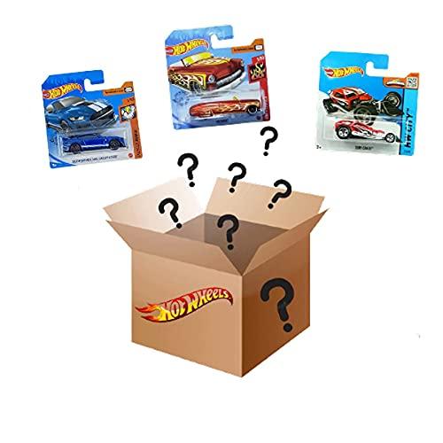Hot Wheels Pack de 3 vehiculos, Coches de Juguete Diecast 1:64 (Modelos Variados), Regalo para coleccionistas y niños