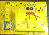 XINQIANG Reloj Pokémon para Estudiantes Pokemon Pikachu Pokémon Pokemon Cartoon Watch Wallet Set de Ahorro de Dinero para niños Regalo